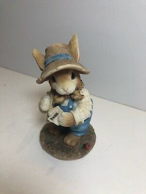 1996 Enesco blushing bunnies friendship is the seed to life