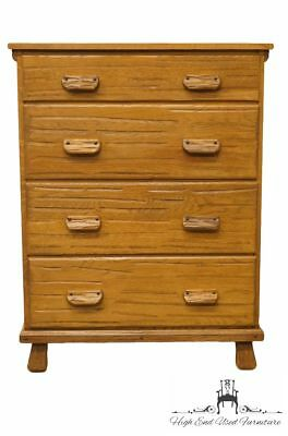 """BRANDT RANCH OAK Western Style Cowboy 35"""" Four Drawer Chest of Drawers"""