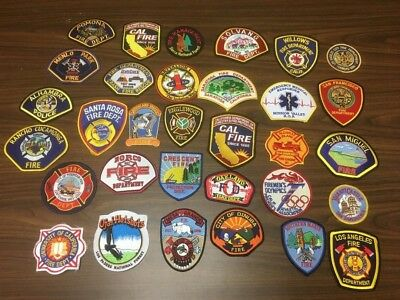 Super Lot Of 32 California Fire Related  Patches  Super Lot