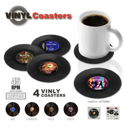 Creative Vinyl Coaster CD Record Cup Drinks Holder Mat Tableware Placemat