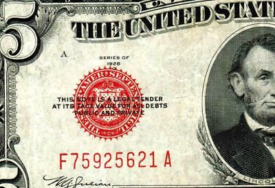 $5 1928C United States Note  ** MORE CURRENCY FOR SALE **