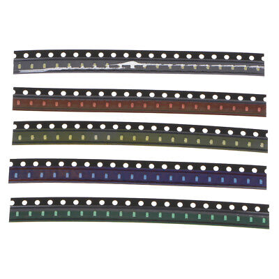 100pcs SMD 5 Color LED Diode Kit,Blue Red White Green Yellow 20pc Each Color