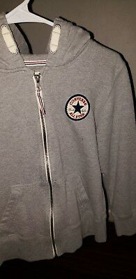 Converse hoodie Girls Size M 10/12 Gray Color