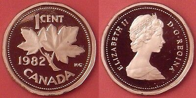 Proof 1982 Canada 1 Cent From Mint's Set