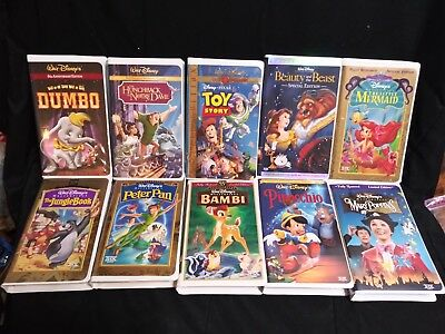 Walt Disney VHS Collection lot of 10 Special Editions Toy Story Little Mermaid