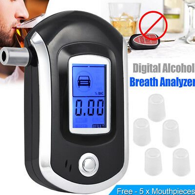 Portable Hand-held Breath Alcohol Tester Digital LCD Analyzer Detector Supplies