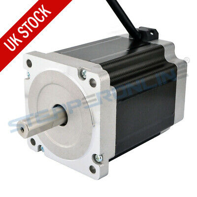 Dual Shaft Nema 34 Stepper Motor 8.5Nm 5A 4 Wires Φ14mm CNC Mill Lathe Router