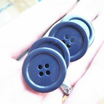 2Pcs Fashion Blue Personality Antique Sewing Craft DIY Blue Shank Buttons