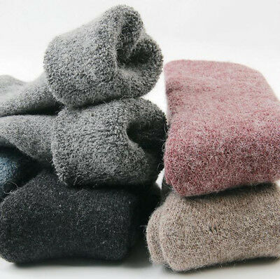 3 Pairs Winter Womens 100% Wool Thick Warm & Comfortable & Pure Cashmere Socks