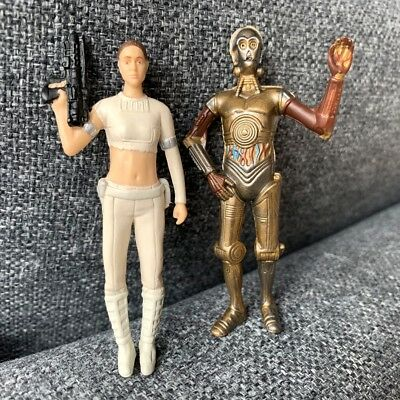 Lot 2Pcs Star Wars The Force Awakens Exclusive Droid C-3PO & Leia figure toys