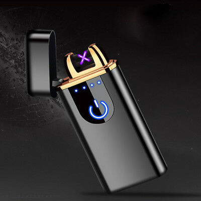Windproof Lighter Electric Double Arc Flameless Plasma Torch Usb Rechargeable m