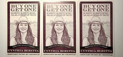 3 Chipotle Buy One Get One Coupon! SAVE MONEY - FREE CHIPOTLE!!