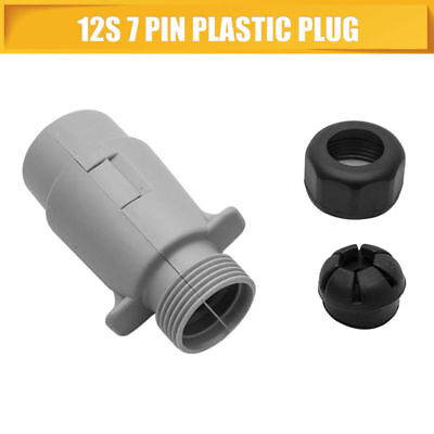 12S 7 Pin Plastic Plug Truck Caravan Trailer Caravan Electric Plug Socket Towing