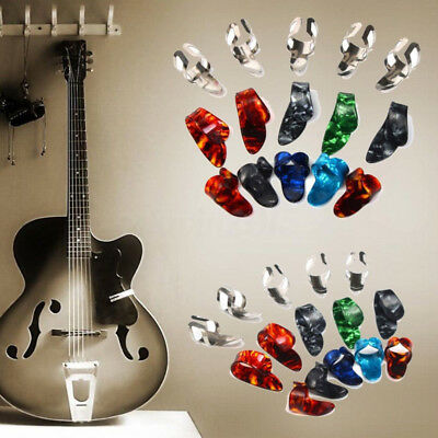 Guitar Picks Stylish Celluloid Steel Plectrums Nail Protector 15X Finger Safe