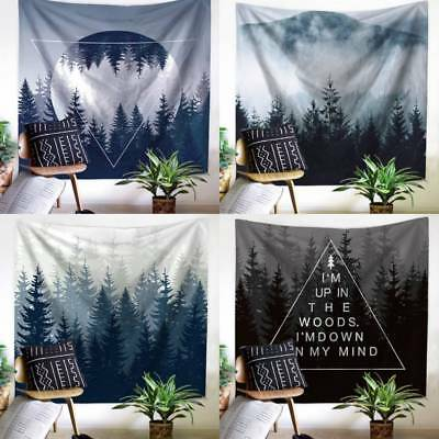Forest Tapestry Wall Hanging Indian Throw Mandala Hippie Bedspread Bohemian Home