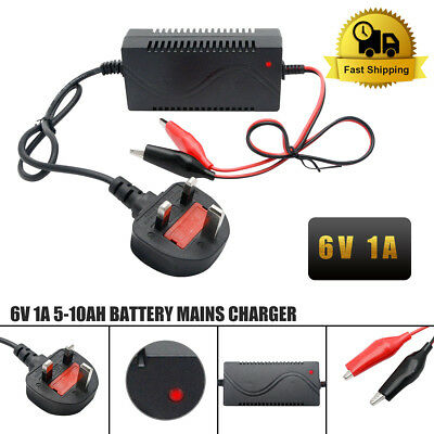 DC 6V 1000mA Battery Charger Adapter For Electric Kids Ride on Car Bike Toy