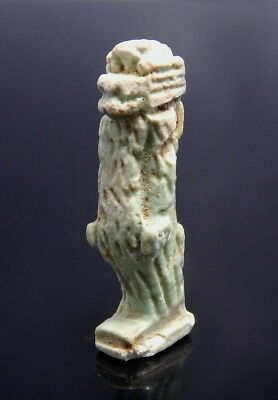 Egyptian Faience Amulet Of A Vervet Monkey (M191)
