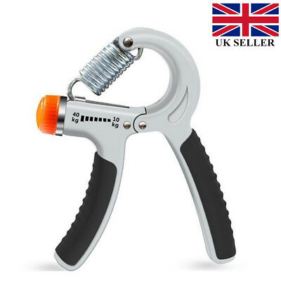 UK 10-40kg Hand Strength Power Grip Adjustable Wrist Forearm Exercise Hands Pro