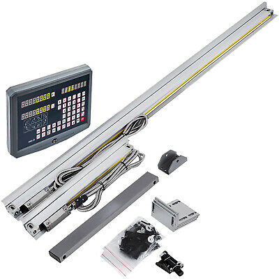 2 Axis Digital Readout TTL Linear Glass Scale DRO Encoder for Milling Lathe