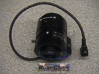1.6-3.4mm Wide Angle Lens for Axis Communications Axis P1343-E IP Network Camera