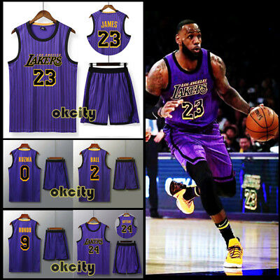 the best attitude fbf95 ac938 LOS ANGELES LAKERS LeBron James Kyle Kuzma Anthony Davis Jersey Shorts  Pants Kit