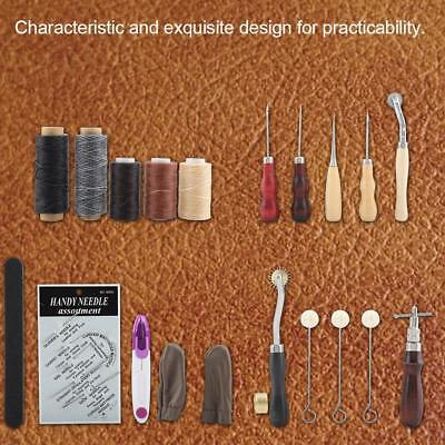 18PCS Leder Werkzeug Stitching Craft Hand Sewing Stitching Groover Kit Sets