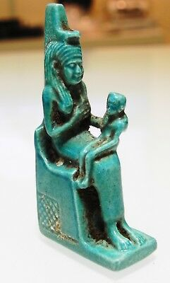 Zurqieh - As10013- Ancient Egyptian Large Faience Isis, Stunning. 600 - 300 B.c