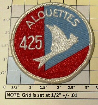 Usaf Military Patch Air Force Rcaf Canada 425 Squadron Alouettes