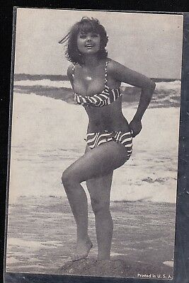 Vintage Antique Photograph Trade Card Sexy Woman in Bikini Bathing Suit #1