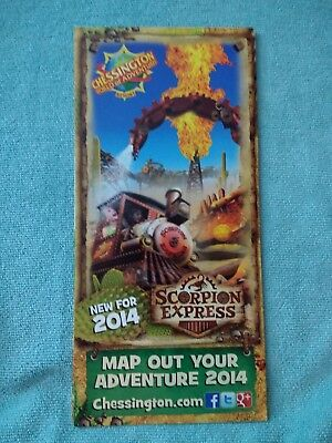Chessington World of Adventures 2014 Theme Park Map Roller Coaster Amusement