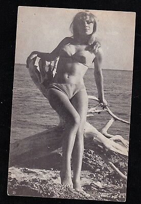 Vintage Antique Photograph Trade Card Sexy Woman in Bikini Bathing Suit #5