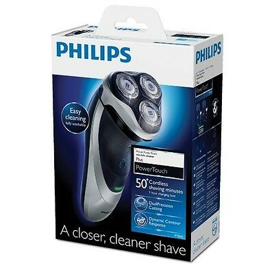 PHILIPS PowerTouch PT860 Mens RECHARGEABLE WASHABLE Cordless Electric Shaver NEW