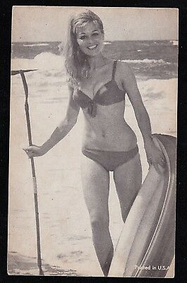 Vintage Antique Photograph Trade Card Sexy Woman in Bikini Bathing Suit #8
