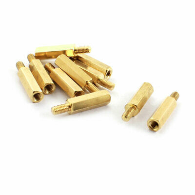 10pcs Hex Brass Standoff Spacer Male 5mm x M3 Female 20mm for PCB Board