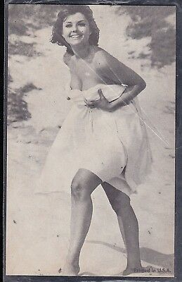 Vintage Antique Photograph Trade Card Sexy Woman in Bikini Bathing Suit #10