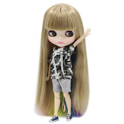 Doll Camouflage Clothes T Shirts Tops Shorts For 1/6 Blyth Azone Licca Doll