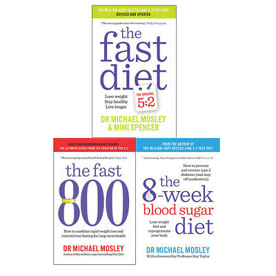 Michael Mosley Fast 800 8-Week Blood Sugar Diet 3 books collection set BRAND NEW