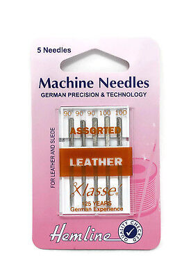 Hemline Mixed Size Sewing Machine Leather Needles