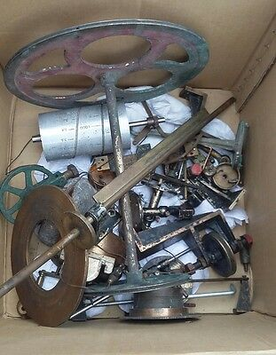 A Large Collection Of Lea's Patent Recorder Water Clock Brass Spare Parts