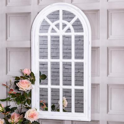 Arched Wall Mirror Panel Window Style Shabby Vintage Chic Hallway Feature Home