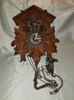 Vintage Cuendet German Cuckoo Clock- AS IS - For Parts / Repair