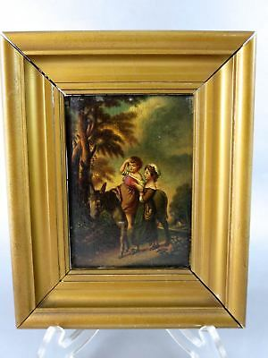 After English THOMAS GAINSBOROUGH Oil Painting COTTAGE CHILDREN WITH DONKEY