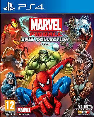 * PLAYSTATION 4 * NEW SEALED Game * MARVEL PINBALL - EPIC COLLECTION VOL 1 * PS4