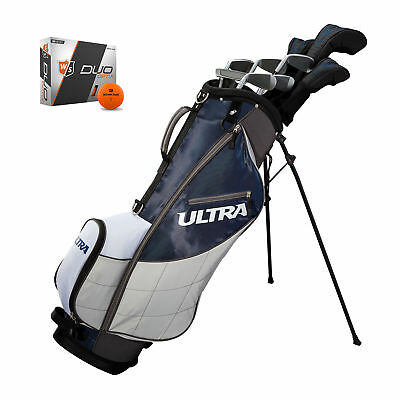 Wilson Ultra Mens 13 Piece Right Handed Complete Golf Club Set w/ Bag & Balls