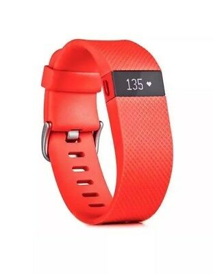 Brand New -Fitbit Charge HR Wireless Activity Tracker Heart Rate Red Large