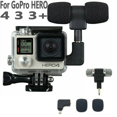 For GoPro Hero 5 4 3+ 3 Side Open Skeleton Housing Case with Microphone