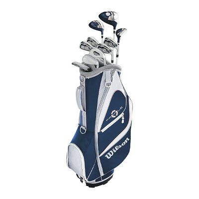 Wilson Profile XD Women's Right Handed Complete Long Golf Club Set with Cart Bag