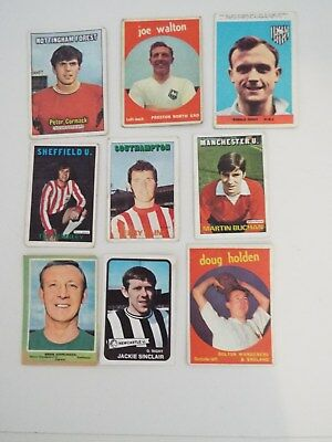 A&BC Cards Footballers Mixed Cards x 9 Cards See Picture Lot 17