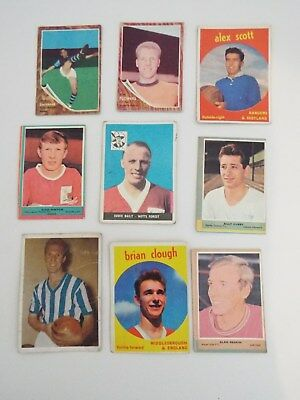 A&BC Cards Footballers Mixed Cards x 9 Cards See Picture Lot 20