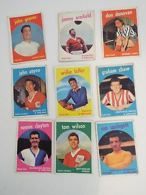 A&BC Cards Footballers Mixed Cards x 9 Cards See Picture Lot 21